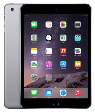 "Apple iPad Mini 3 16GB WiFi Space Gray / 7.9""/ 2048x1536 / WiFi / 10h výdrž / 2x kamera / iOS8 / Šedá"