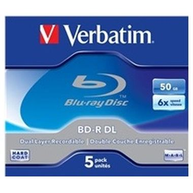 Verbatim 5ks Blu-Ray BD-R / DualLayer / 50GB / 6x / Jewel