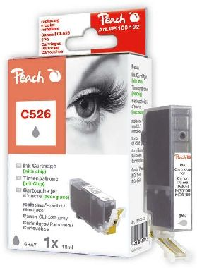 PEACH kompatibilní cartridge Canon CLI-526GY, Grey, 10 ml