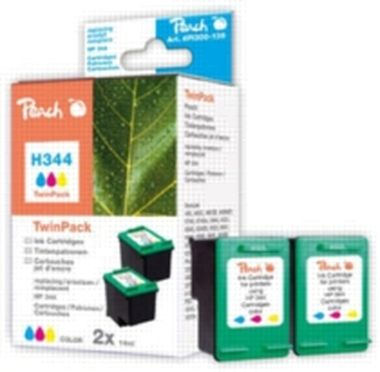 Peach 344 alternativní cartridge / pro HP Deskjet 6540 / Twin-Pack / 2x14 ml / Barevná