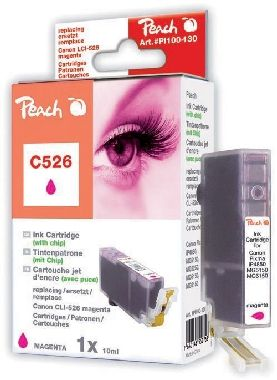 PEACH kompatibilní cartridge Canon CLI-526M, Magenta, 10 ml