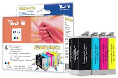 Peach T1301-T1304 alternativní cartridge s čipem / Epson Stylus Office BX525WD / 1x25 + 3x10ml / Multipack