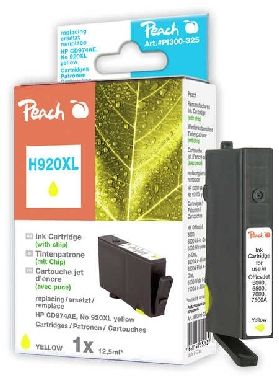 Peach 920XL alternativní cartridge s čipem / HP OFFICEJET 6000 / 12 ml / Žlutá