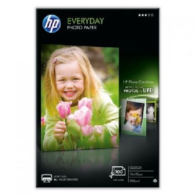 HP Photo Paper Glossy Everyday / lesklý / 10 x 15 cm / 200 g/m2 / 100 listů