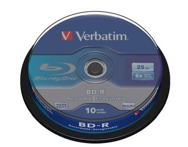 Verbatim Blu-Ray BD-R / 25GB / 6x / 10ks Spindl