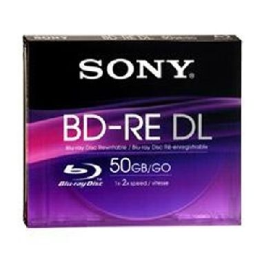 SONY médium BD-RE / DL / 50GB / přepisovatelné / 1ks jewel case
