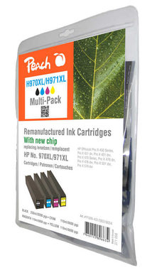 Peach 970XL alternativní cartridge / multipack / pro HP OfficeJet Pro X451 / CMYK