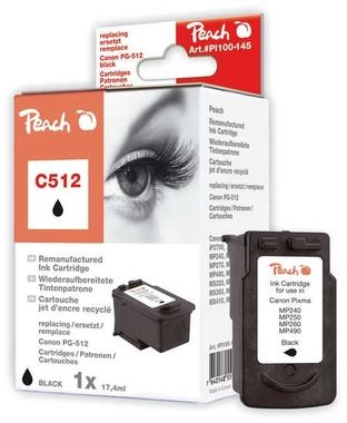 Peach Canon C512 Pigment Black XL / kompatibilní s PG-512bk / 17,4ml