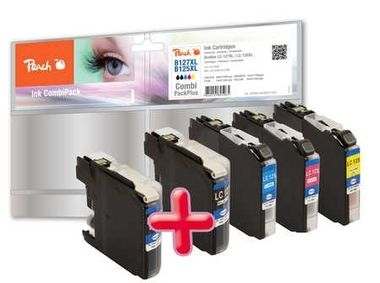 Peach LC-127XL/ LC-125XL MultiPack Plus alternativní cartridge / pro Brother DCP-J4510 / Multipack