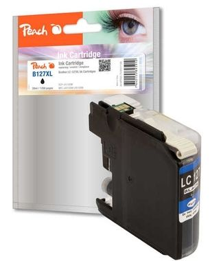 Peach Remanufactured LC-127XL alternativní cartridge / pro Brother DCP-J4510 / černá