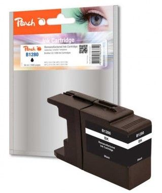 Peach remanufactured LC-1280 alternativní cartridge / Brother MFC-J6510 / černá