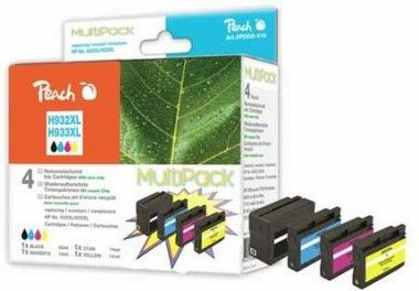 Peach Remanufactured 932XL a 933XL MultiPack alternativní cartridge / HP OFFICEJET 6100 / MultiPAck