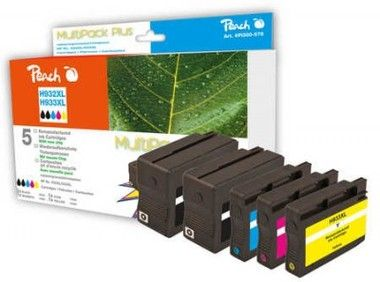 Peach Remanufactured 932XL a 933XL MultiPack Plus alternativní cartridge / HP OFFICEJET 6100 / MultiPack Plus
