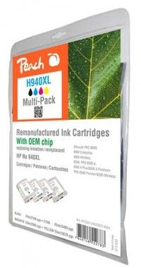 PEACH Remanufactured No 940XL MultiPack / HP Officejet Pro 8000 / s OEM čipem / MultiPack