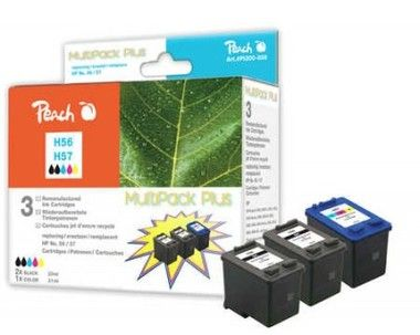 Peach Remanufacture No 56/57 MultiPack Plus alternativní cartridge / DeskJet 5550, OfficeJet 6110 / OEM chip / MultiPack