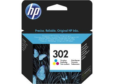 HP F6U65AE originální cartridge 302 / DeskJet 1110, 2130 / 165 str. / 4ml. / Cyan/Magenta/Yellow