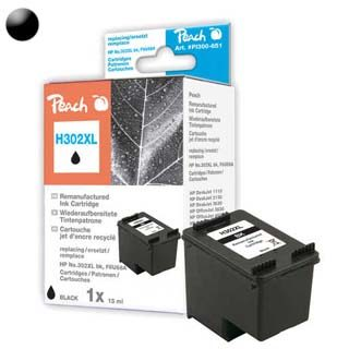 Peach Remanufactured HP302 alternativní cartridge / OfficeJet 3830 / 5 ml / černá