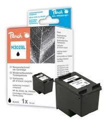 Peach Remanufactured HP302XL alternativní cartridge / OfficeJet 3830 / 8 ml / černá