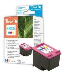 Peach Remanufactured HP302XL alternativní cartridge / OfficeJet 3830 / 18 ml / barevná