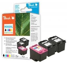 Peach Remanufactured MultiPack Plus HP302XL alternativní cartridge / OfficeJet 3830 / 2x15+18 ml / MultiPack Plus