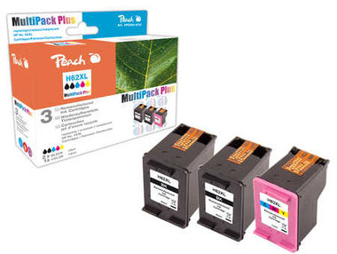 Peach Remanufactured HP62XL MultiPack Plus alternativní cartridge / HP Envy 5640 / OEM chip / 2x19+21ml / Multipack Plus