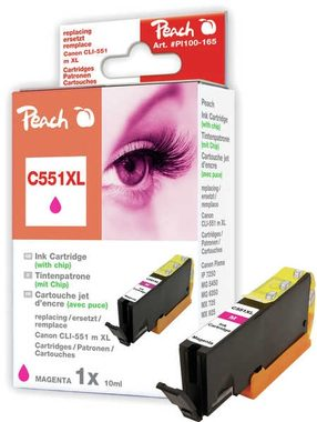 Peach CLI-551XL alternativní cartridge s čipem / Pixma MG5450 / 13ml / Purpurová