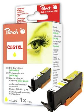Peach CLI-551XL alternativní cartridge s čipem / Pixma MG5450 / 13ml / Žlutá