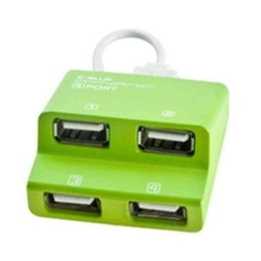 E-BLUE USB 2.0 HUB / 4 portový / Dynamic green
