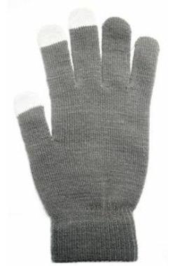 Aligator rukavice na dotykový displej   šedé   dámské  cdc960dc4a