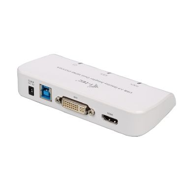 i-tec USB 3.0 to DVI-I+VGA+HDMI Dual Display adaptér Full HD / Bílý