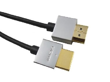 PremiumCord Slim HDMI High Speed + Ethernet kabel / zlacené konektory / 1m