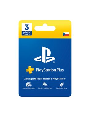 Sony Playstation Plus Card - 90 dní (Sony PlayStation 4 & 3 & Vita)