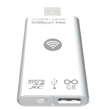 HyperDrive iUSBport 2 mini  / USB /  MicroSDXC  / WIFI / bílý