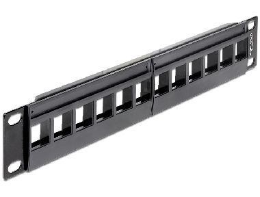 "Delock 10"" Keystone Patch Panel / 12 Portů"