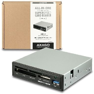 "AXAGO interní 3.5"" USB 3.0 5-slot čtečka ALL-IN-ONE"