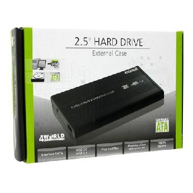 "4World Box na externí  HDD 2.5"" Sata na USB"