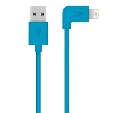 Belkin Mixit kabel s konektorem 90° pro Apple iPhone / Lightning  / 1.2 m / modrá