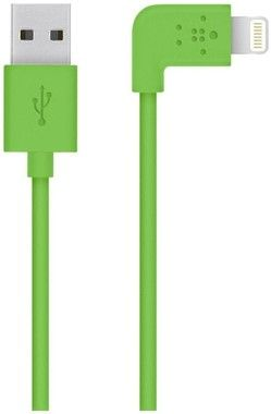 Belkin Mixit kabel s konektorem 90° pro Apple iPhone / Lightning  / 1.2 m / zelená