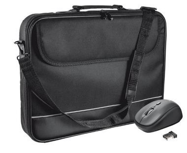 "Trust Carry Bag for 15-16"" laptops with wireless mouse  / Brašna + myš / 15-16"" / Černá"