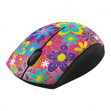 Trust Ovi Wireless Ultra Small Mouse - flower power / myš / 1000dpi / černá