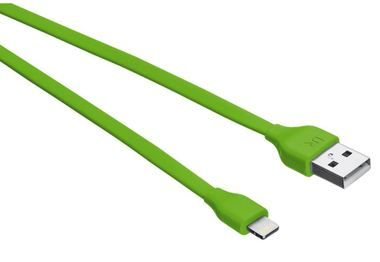 Trust Flat Lightning Cable / plochý kabel pro iPhone/iPad a iPod / 0.2m / zelená