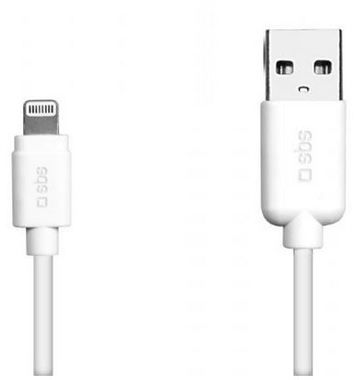 SBS datový kabel pro Apple Lightning / iPhone / iPad / iPod / 1.2m / bílý