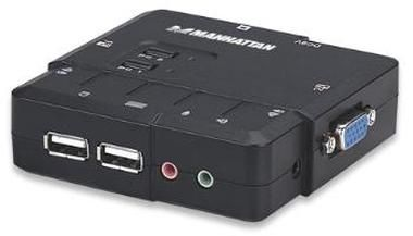 Manhattan 2-Port Compact KVM Switch / USB / Audio