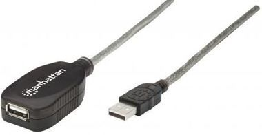 Manhattan Hi-Speed USB Active Extension Cable A-A M/F / Prodlužovací USB kabel / 5m