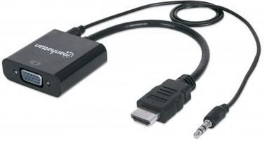 Manhattan HDMI male to VGA female converter with audio