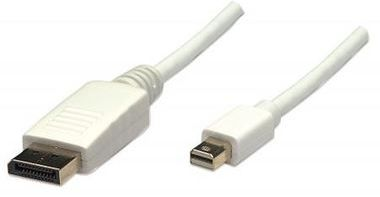 Manhattan Monitor Cable Mini DisplayPort to DisplayPort / M/M / bílá / 1m