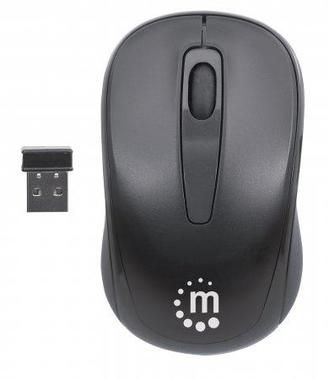 Manhattan Achievement Wireless / Optical Mouse / 1000 dpi / 2.4 GHz / černá