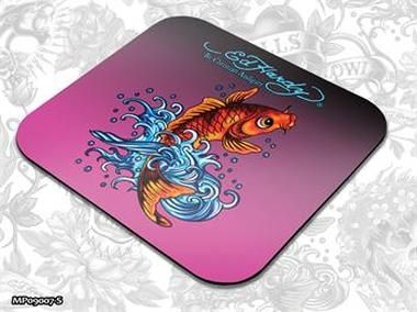 ED HARDY Mouse Pad Small Fashion 1 - Koi Fish / podložka pod myš