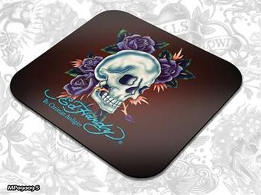 ED HARDY Mouse Pad Small Fashion 1 - Skull and Roses / podložka pod myš