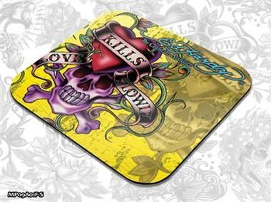 ED HARDY Mouse Pad Small Fashion 2 - Love kills Slowly yellow / podložka pod myš